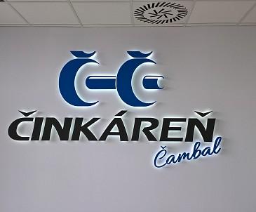 3D inverzne podsvietené logo